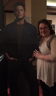 Me and Jensen Ackles, hanging out together:)